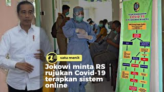 Jokowi minta RS rujukan Covid-19 terapkan sistem online