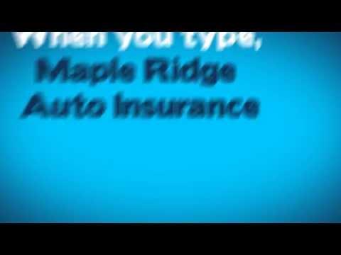 Maple Ridge Auto Insurance