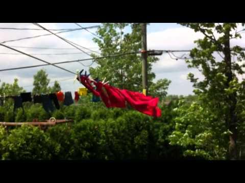 Installation d 39 une corde a linge doovi for Installer corde a linge