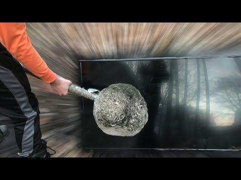 DIY Giant Mirror Polished Japanese Aluminum Foil Ball HAMMER Vs. TV!