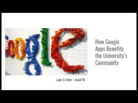 How Google Apps Benefits the University's communities