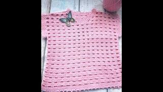 Вязание крючком. Детская кофточка из хлопка.