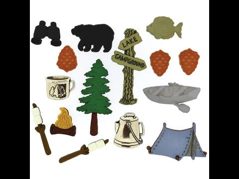 Jesse James Dress It Up Embellishments, Camping