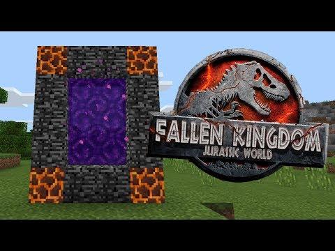 How To Make a Portal to the Jurassic World Fallen Kingdom Dimension in Minecraft PE