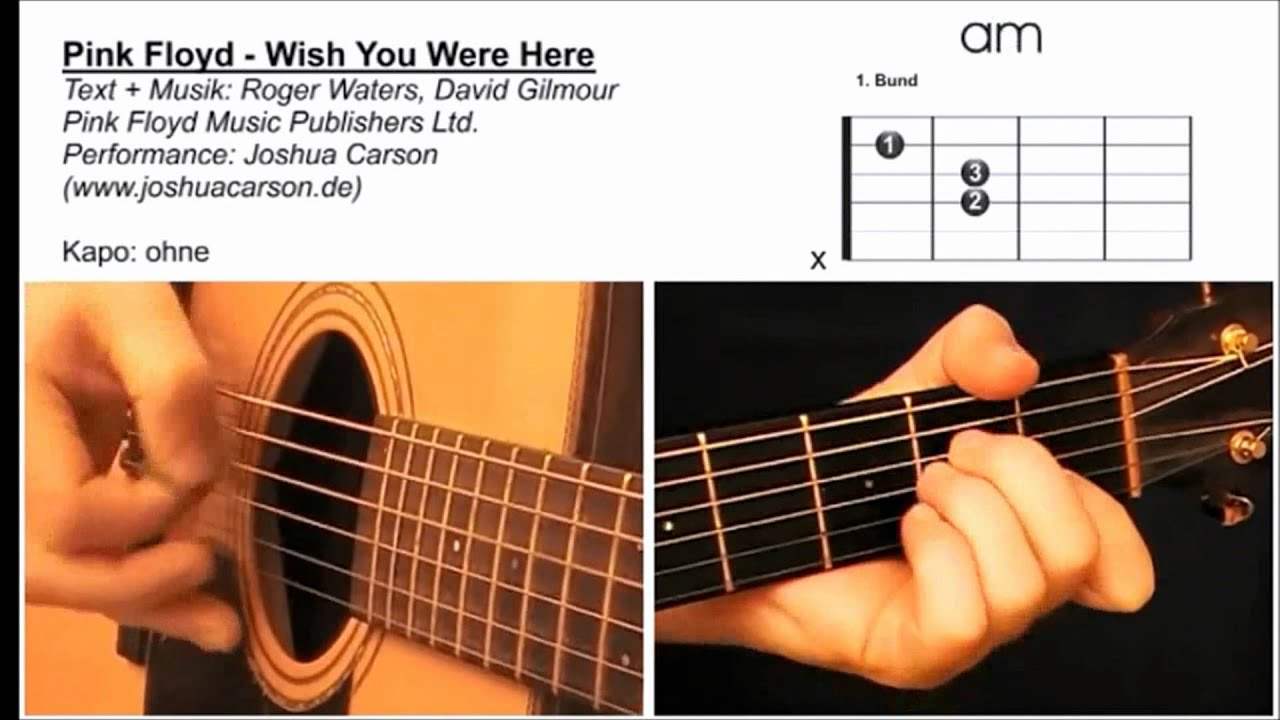 7 Gitarre Lernen Fr Anfnger Pink Floyd Wish You Were Here Gitarrenlektion YouTube