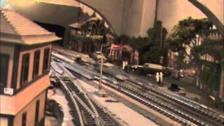 HO Scale Model Train Layout 1955 Trip West on Pennsylvania Railroad