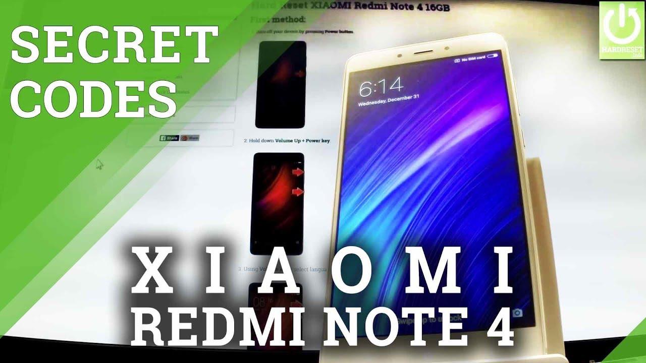 Codes XIAOMI Redmi Note 4 64GB - HardReset info