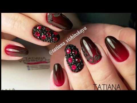 Бордо дизайн ногтей