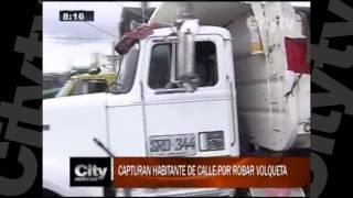Capturan a habitante de la calle por robar volqueta   CityTv   City Noticias de las 8   Enero 20