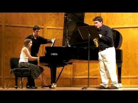 """Lunde """"Alpine"""" Sonata for soprano sax and piano Mvt. II - Vivo"""