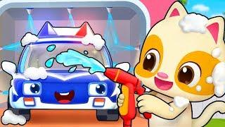 一起去洗車 | 最新汽車兒歌童謠 | 交通工具卡通動畫 | 寶寶巴士 | 奇奇 | Learn Chinese | BabyBus