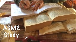 ASMR Page turning, writing, studying vocabulary  (No Talking) crinkly pages