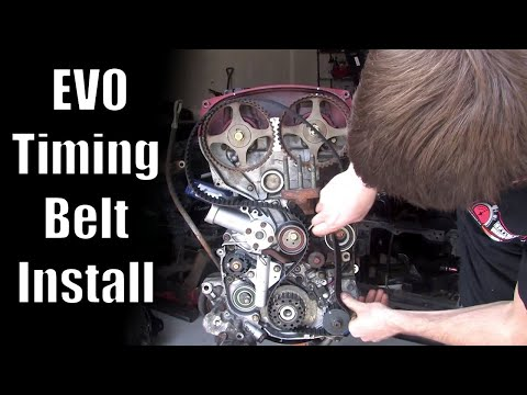 Mitsubishi Timing Belt How-To Video (very detailed)   Evolution 8