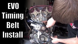 Mitsubishi Timing Belt How-To Video (very detailed) // Evolution 8 - EVO8 - EVO9
