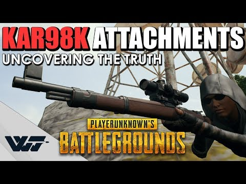 TEST: The Truth behind KAR98K ATTACHMENTS, How do they work? PUBG