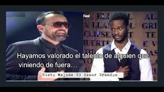 El emotivo mensaje de Risto Mejide a César Brandon  ,en la final de Got Talent (subtitulado)