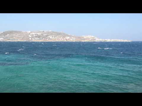 Mykonos View from the Ocean View Rooms at Mykonos Theoxenia Hotel (HD)