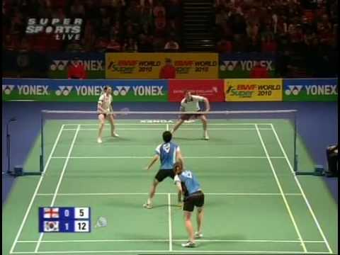 2010 All England Badminton Mixed Doubles Quarter Finals   Anthony Clark Heather Olver vs LeeY ong Dae Lee Hyo Jung 4