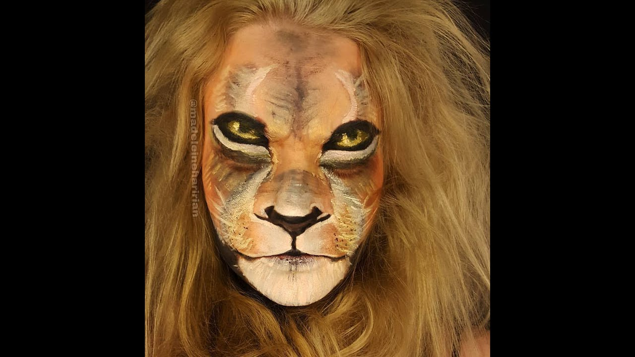 Image Gallery lion face paint