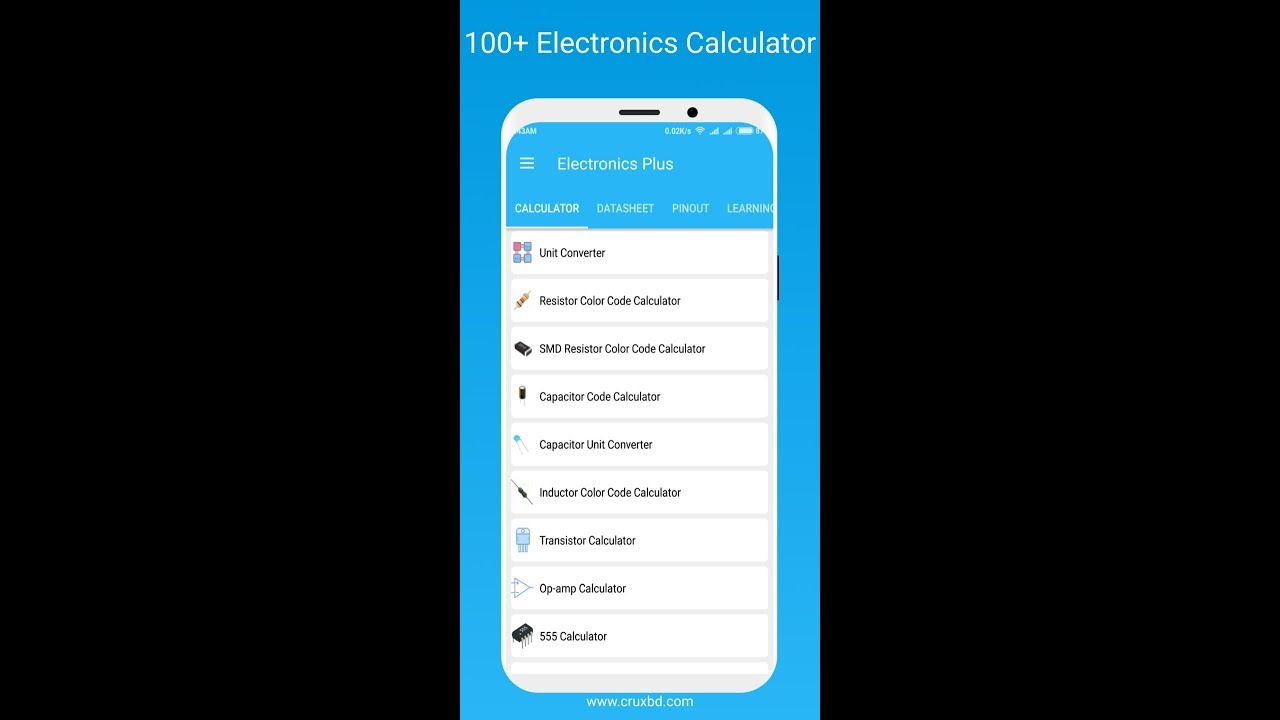 Electronics Plus :100+ Calculator, 3500+ Datasheet v1 8 (Ad