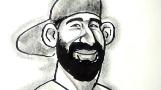 Toronto Caricature Guy Party Blue Jays Bautista in 2.5 minutes