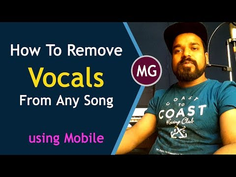 How To Make Karaoke || How To Remove Vocals From A Song Using Mobile Phone || Musical Guruji