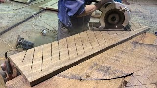 Amazing Hardwood Processing Project For Stairs // How To Build And Install Wooden Stair Treads