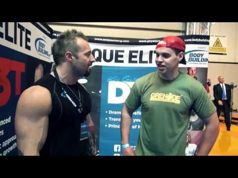 Kris Gethin DTP arms at BodyPower