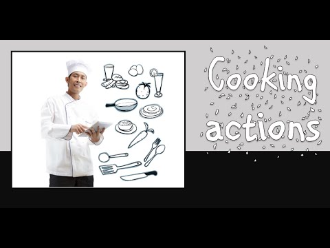 Cooking actions: English vocabulary