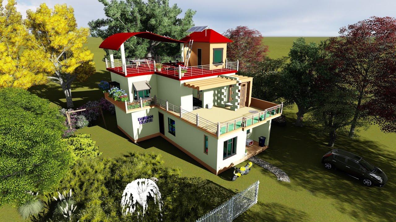 Indian house exterior and interior walkthrough of 3d for 3d house walkthrough