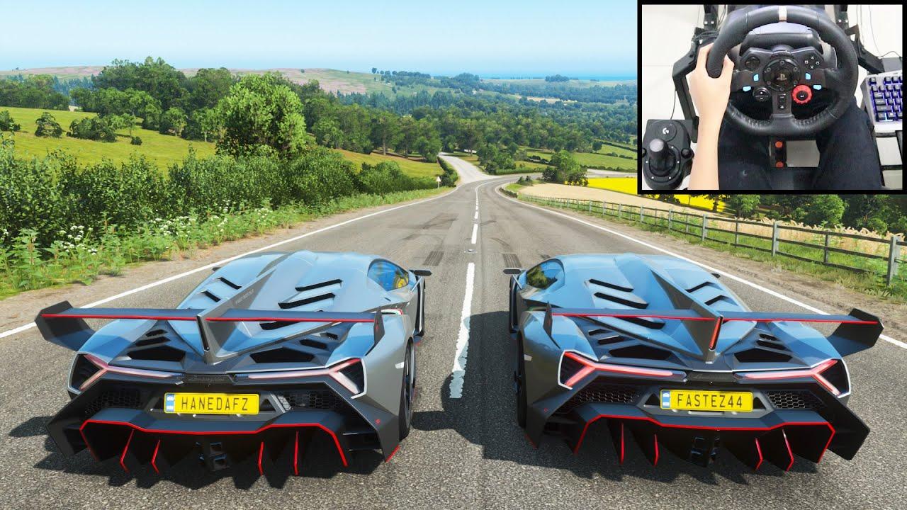 Lamborghini Veneno - Forza Horizon 4 Online   Logitech g29 gameplay