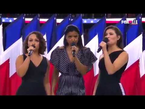 The Schuyler Sisters Perform America The Beautiful At Super Bowl LI
