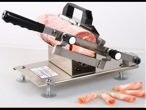 Máy thái thịt đông lạnh bằng tay giá 1tr5 - ĐT: 0936016622 - máy thái lát thịt bò lợn dê đông lạnh