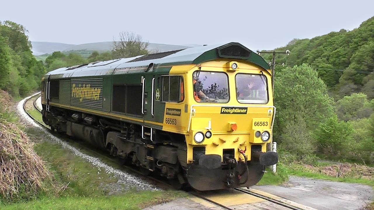 Freightliner Class 66 66563 Seen On The Gcg Branch Route Learning 16052016  Youtube