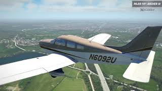 Preview of Just Flight's PA-28 Archer III for X-Plane 11
