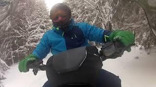 Bukovel snowmobile GO Pro Снегоходы Буковель Заезд по горам на снегоходах