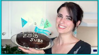 250 Subs: White Cake And Chocolate Buttercream Frosting