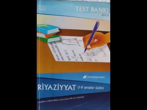 Faiz,nisbət,tənasüb/Test-1/Araz test bankı(I-II qruplar)