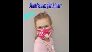 DIY Atemschutzmaske Mundschutz Behelfs-Maske nähen für Kinder nach Maß