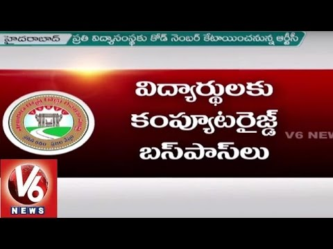 Telangana RTC Launches Online Bus Pass Renewal System Through Official Website | V6 News