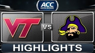 2013 ACC Football Highlights | Virginia Tech vs East Carolina | ACCDigitalNetwork