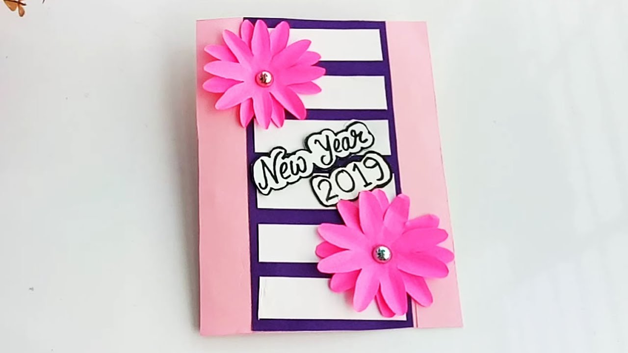How To Make New Year Pop Up Card Handmade New Year Card Idea