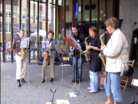 Saxofoon ensemble Show Time Markant 7 juni 2009
