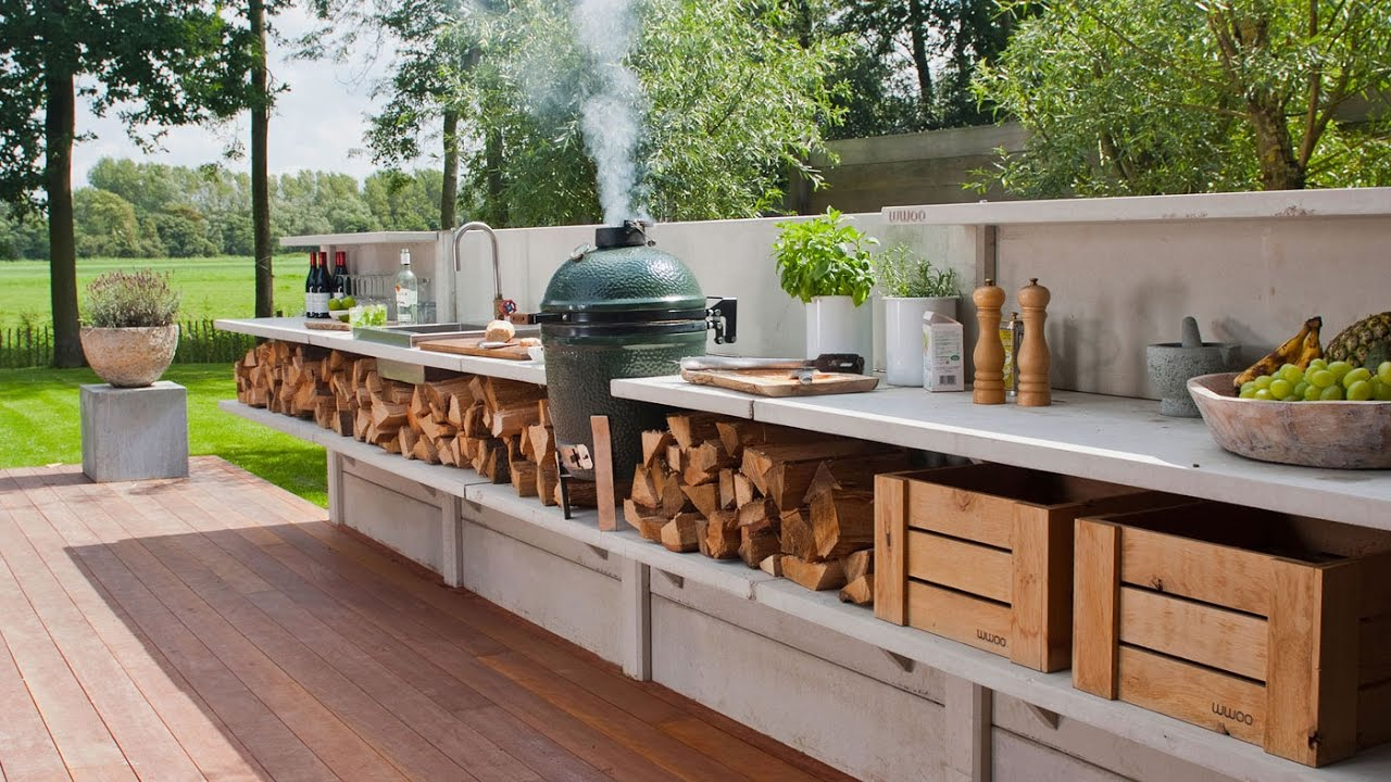 Outdoor Kitchen Ideas on a Budget - YouTube on Backyard Kitchen Design id=62134