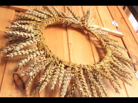 Как плести <strong>плетение венков из колосков</strong> венок из колосьев - Смотреть видео онлайн