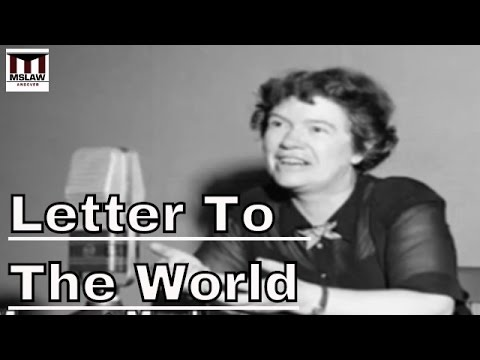 Seven Women Who Shaped 20th Century American History :  Letter To The World