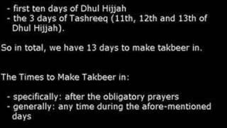Takbeer of Dhul Hijjah