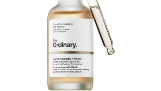 The Ordinary Lactic Acid 10% + HA Exfoliating Serum Review and How to Use