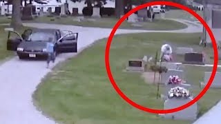 Grieving Parents Hide Camera in Cemetery to Unveil Their Unwelcome Visitor