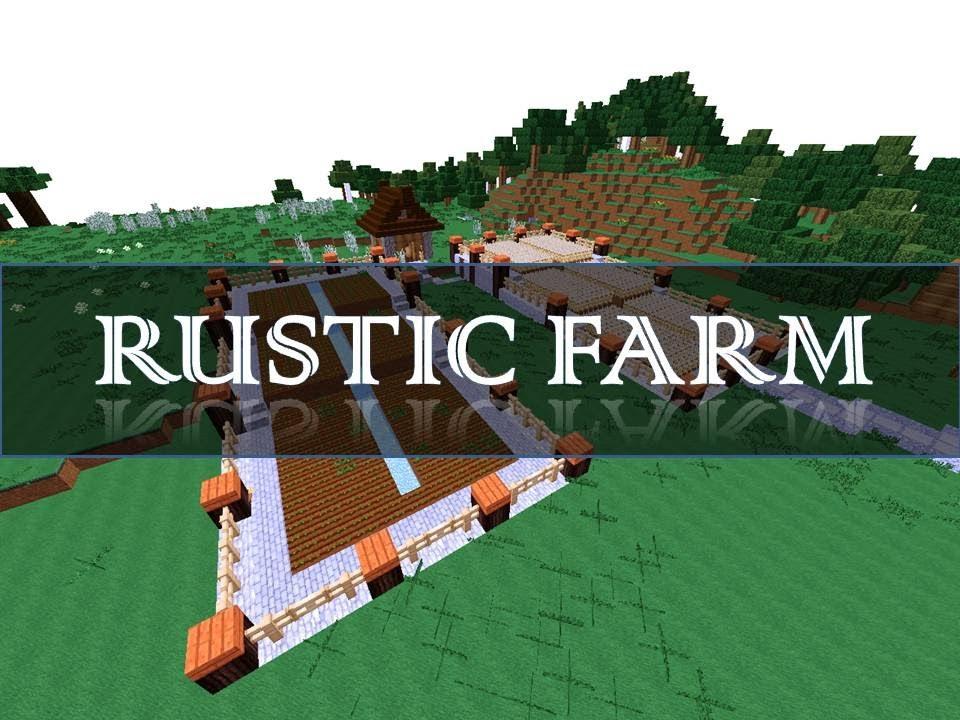 Minecraft Terrace Farm Tutorial Youtube